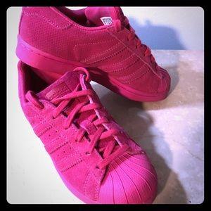 Hot Pink Shell Toe 6m Euc | Poshmark